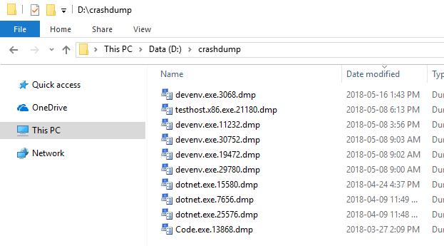 Tip: Automatically create a crash dump file on error - Meziantou's blog