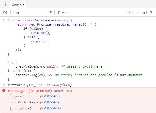 Detect missing await in TypeScript - Meziantou's blog