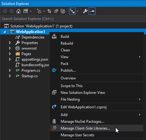 Library Manager, a client-side library manager in Visual Studio 2017