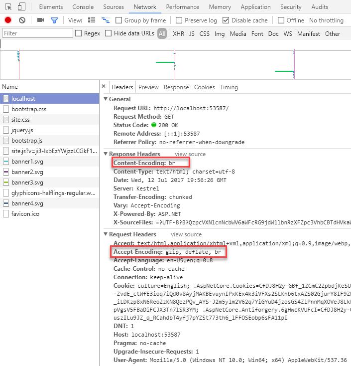 Use brotli compression with ASP NET Core - Meziantou's blog