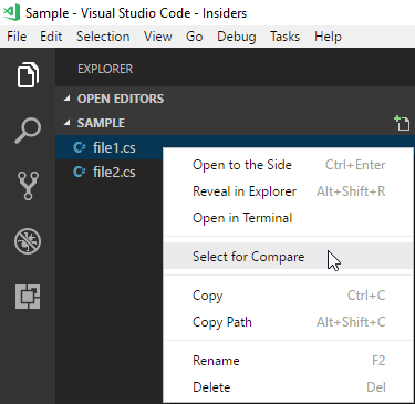 Comparing files using Visual Studio Code - Meziantou's blog