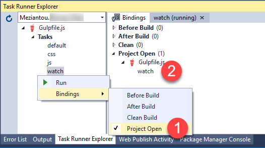 Add task runner binding